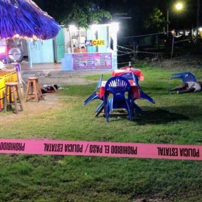 DOBLE EJECUCIÓN EN XUL-HA: Matan afuera de una taquería a un adulto y a un menor de edad en el sur de QR