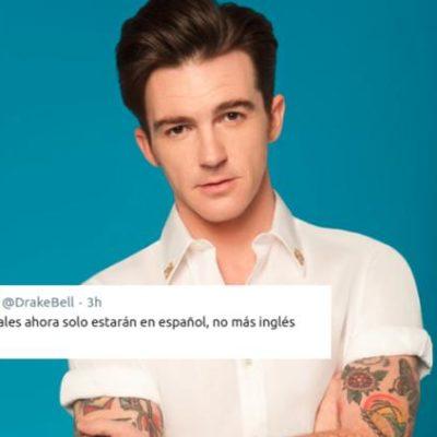 Anuncia Drake Bell que sus redes sociales sólo estarán en español