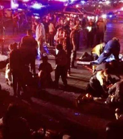 Desbarranca autobús con turistas en Chiapas; reportan 7 muertos y al menos 39 heridos