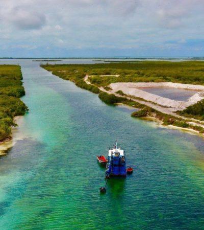ARRANCA EL DRAGADO DEL CANAL DE ZARAGOZA: Obra impulsará el desarrollo económico de Chetumal, asegura Carlos Joaquín