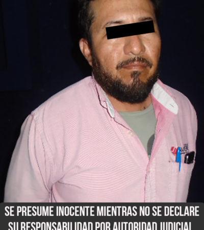 Detienen en Cancún a un hombre acusado de homicidio