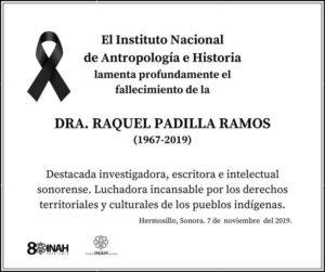 Asesinan con arma blanca a historiadora Raquel Padilla en Sonora