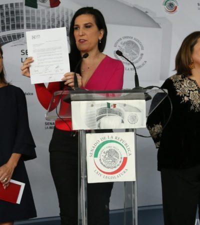 Exhiben senadores panistas engaño de Rosario Piedra y le piden renuncia como titular de la CNDH