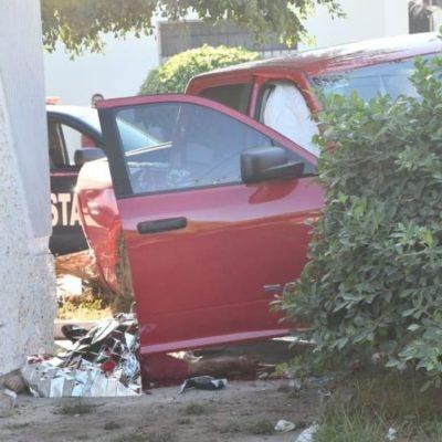 Confirman que secretario del ayuntamiento de Guasave fue degollado antes de chocar en su camioneta