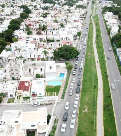 'ASFIXIAN' EMBOTELLAMIENTOS A LA HUAYACÁN: Continúa Ayuntamiento sin dar solución a añejos problemas viales y de movilidad en Cancún