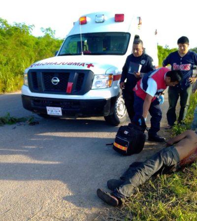 Machetean a hombre y lo abandonan en camino rural de Othón P. Blanco