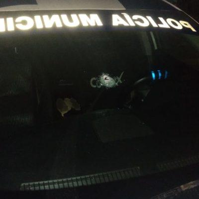 Disparan contra policías en una patrulla en el fraccionamiento Tierra Maya de Cancún; no hay heridos
