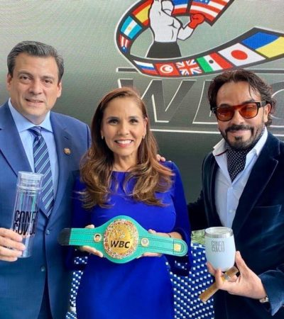 VA MARA A CDMX PARA BUSCAR RESPALDO… DE BOXEADORES: Al estilo de antes, pacta Alcaldesa que el CMB promocione el 50 aniversario de Cancún