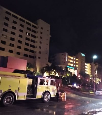 Surge incendio en hotel de Cancún; huéspedes se inconforman por no darse alarma