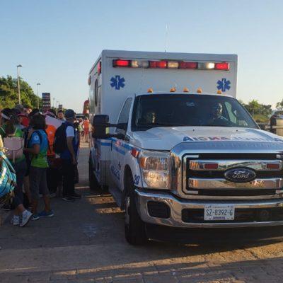 Hospitalizan a atleta en arranque del Ironman Cozumel