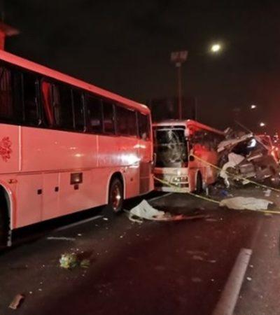 Deja once muertos y al menos quince heridos una carambola de autobuses en la México-Pachuca