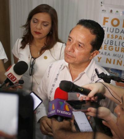Asegura Carlos Joaquín que asaltos en la carretera se deben a la salida de la Policía Federal
