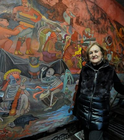 Dan último adios a la pintora Rina Razo, discípula de Diego Rivera; murió a los 96 años