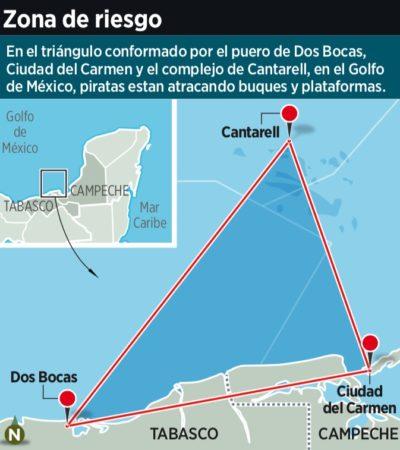 """""""ESTO YA GENERÓ UNA ALERTA INTERNACIONAL"""": Atacan piratas del Golfo 16 barcos cada mes"""