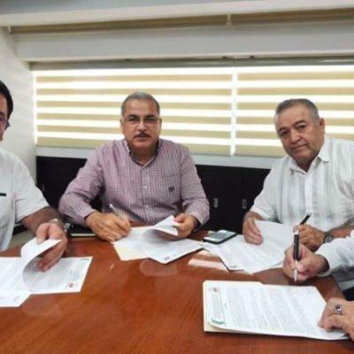 Tras conflictos, firman convenio taxistas de Cancún e Isla Mujeres