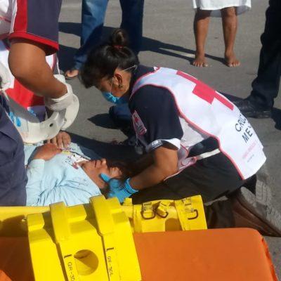 Taxista arrolla a mujer en Chetumal