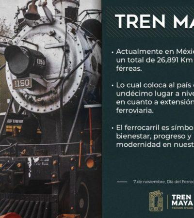 En diciembre se lanzará la licitación para la mitad de vía del Tren Maya, anuncia López Obrador