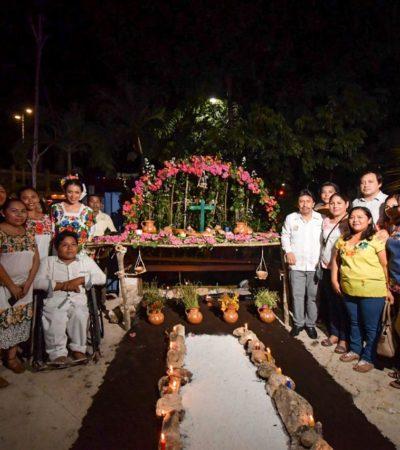ALTARES Y DESFILE DE CATRINAS EN TULUM: Con diversas actividades, preservan tradiciones por el Día de muertos y el Hanal Pixán