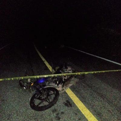 Muere motociclista en accidente cerca del ejido Chanchén I, en la Zona Maya de Tulum