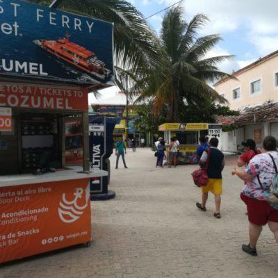 Molesta a usuarios que la naviera Winjet se haya sumado al incremento de tarifas de ferry en la ruta Playa del Carmen-Cozumel