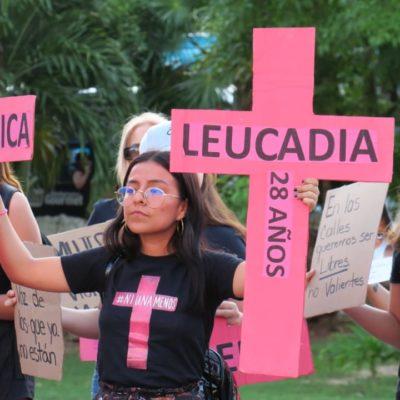 """""""NO VAMOS A ESPERAR QUE ELLAS CREZCAN EN UNA CIUDAD QUE DA MIEDO"""": Se manifiestan por violencia contra las mujeres en Cancún"""