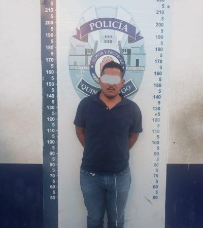 CAE 'EL TABASQUEÑO', ASALTANTE DE 40 NEGOCIOS:  Detienen policías en Rancho Viejo a escurridizo delincuente de Cancún