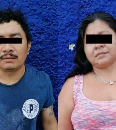 Detienen a un hombre y a una mujer por robo a comercio