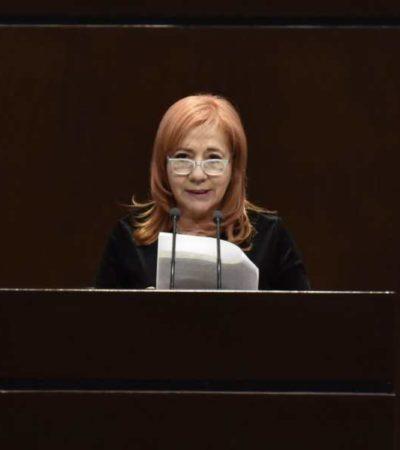 """""""No podemos comportarnos igual que un torturador, que un violador, que un asesino"""", dice la 'ombudsperson' Rosario Piedra al criticar las manifestaciones feministas en CDMX"""