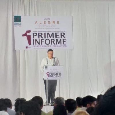 INFORME EXPRÉS DE LUIS ALEGRE EN CANCÚN: Ofrece diputado raquítico discurso, sin información del CPTM, pero le dan título Doctor Honoris Causa