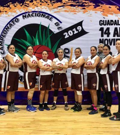 Equipo de veteranas de básquetbol de Cancún obtiene boleto a Campeonato Panamericano 2020