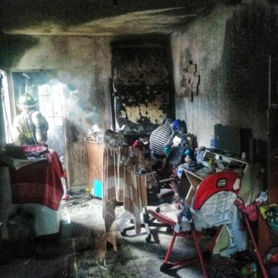 Se registra conato de incendio provocado por veladora en vivienda de Playa del Carmen