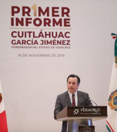 Presume Cuitláhuac García acabar con corrupción y oposición le reza rosario de pifias