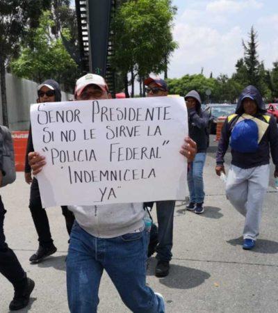 Protesta de expolicías federales en la CDMX es una provocación advierte Durazo