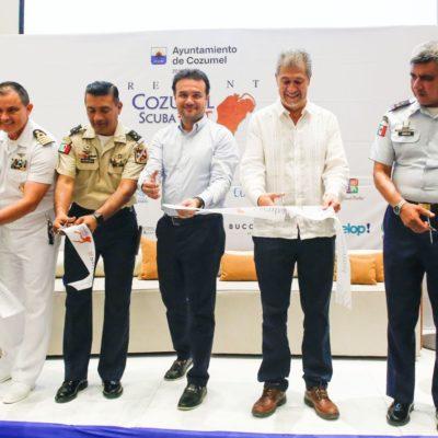 INAUGURAN LA 6ª EDICIÓN DEL SCUBA FEST: Pedro Joaquín llama a preservar los arrecifes de coral en Cozumel
