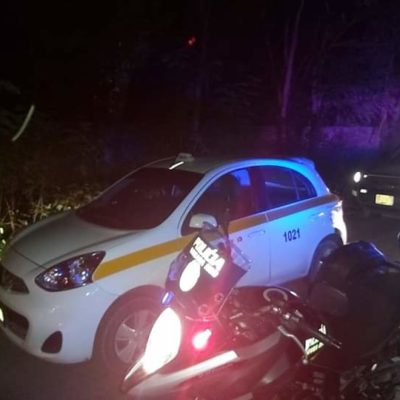 'Aparece' en Calderitas taxi robado con violencia en Chetumal