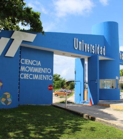 Reportan asalto con violencia en el interior de la Universidad Tecnológica de Cancún para sustraer dinero de cajero automático