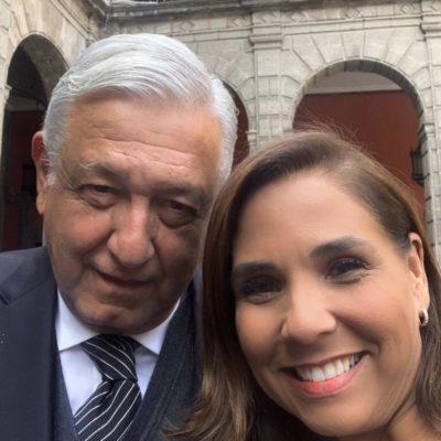 Con el estigma de encabezar el municipio que ocupa el lugar 7 en delitos de alto impacto, Mara Lezama se va a reunión de seguridad, se toma una foto con AMLO… y sus 'bots' la aplauden en redes