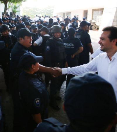 Exhorta Pedro Joaquín a policías municipales a redoblar esfuerzos para que en 2020 Cozumel continúe siendo el destino más seguro del estado