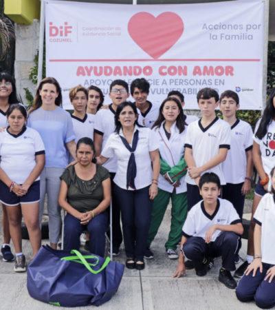 """Promueve DIF municipal el programa """"Ayudando con Amor"""" en Cozumel"""