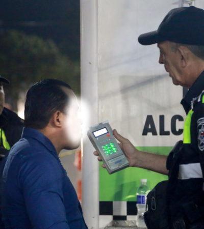 CAEN 106 PERSONAS EN EL ALCOHOLÍMETRO DE CANCÚN: Con reformas al Reglamento de Tránsito, aún no en vigor, representaría alrededor de un millón de pesos en ingresos para el Ayuntamiento