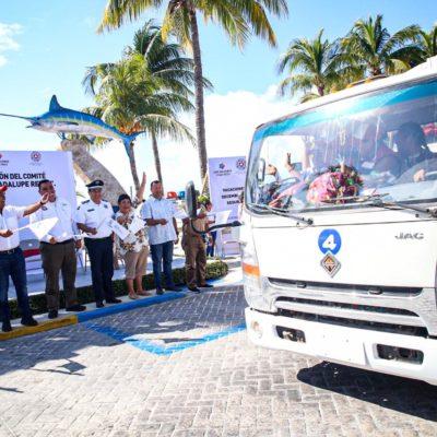 Dan banderazo al operativo de vacaciones decembrinas 'Guadalupe-Reyes 2019' en Isla Mujeres