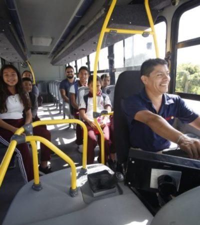 El lunes entrarán en función 14 unidades del servicio de transporte público en Isla Mujeres