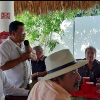 Con whisky y tequila, diputado Hernán Villatoro celebra con 'camaradas' chiapanecos
