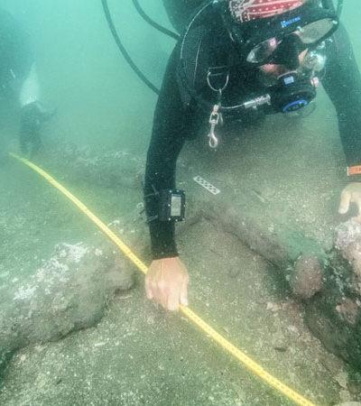 Reporta INAH hallazgo de dos anclas en mar de Veracruz que serían del barco de Hernán Cortés