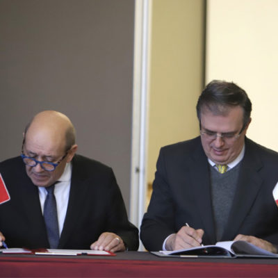 Firman México y Francia acuerdos por la educación; enseñarán francés en secundarias públicas