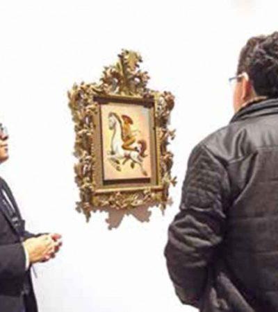 Exhiben en Bellas Artes el 'Zapata gay', sin postura familiar y vigilado