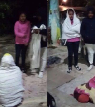 EXIGEN PAGO A ARCO POR RETIRO DE SARGAZO: Trabajadores duermen en la playa con mal tiempo para exigir el cumplimiento de la empresa
