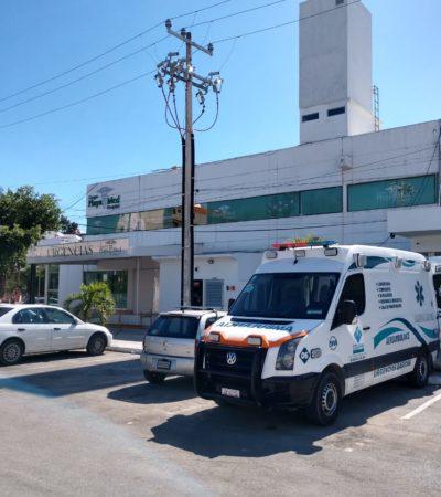Roban ambulancia de la clínica Playamed en Cancún