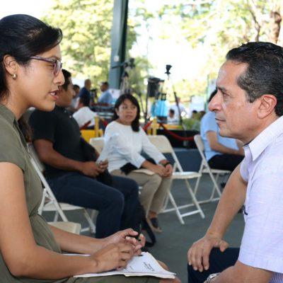 ATIENDE CARLOS JOAQUÍN A CIUDADANOS: Encabeza Gobernador audiencia número 27 de su administración y la cuarta en Chetumal