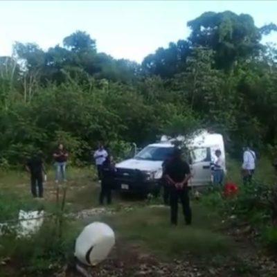 Hallan cadáver en estado de putrefacción en lote baldío en la Zona Continental de Isla Mujeres
